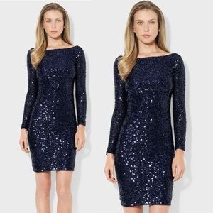 Lauren Ralph Lauren Blue Sequin Dress
